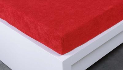 Froté prostěradlo Exclusive dvoulůžko - červená 160x200 cm