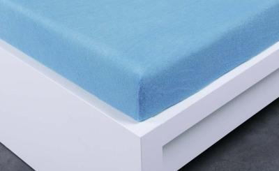 Froté prostěradlo Exclusive dvoulůžko - světle modrá  160x200 cm